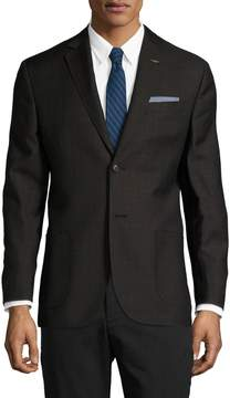 Michael Bastian Gray Label Men's Wool Checkered Notch Lapel Blazer