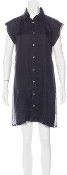 Christian Siriano Silk Button-Up Dress