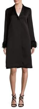 Escada Mabarbelle Ostrich Feather Coat