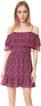 WAYF Daria Ruffle Off Shoulder Dress