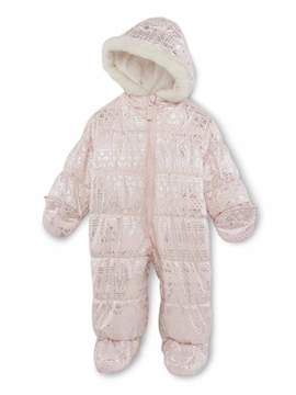 Carter's Infant Girls Pink Nordic Print Snowsuit Baby Pram Snow Suit 12m