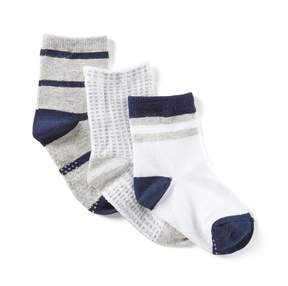 Starting Out Baby Boys 3-Pack Crew Striped Socks