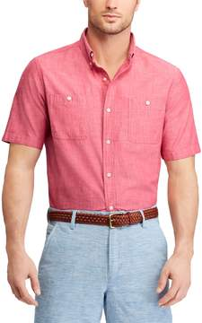 Chaps Big & Tall Classic-Fit Chambray Button-Down Shirt