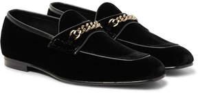 Tom Ford Chain-Trimmed Velvet Loafers