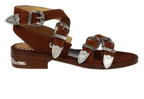 Toga Pulla Women's Brown Leather Sandals.
