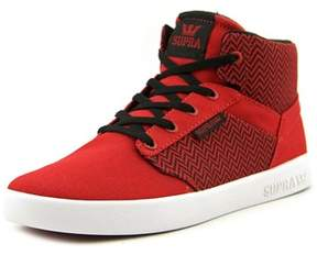 Supra Yorek Hi Youth Round Toe Synthetic Red Skate Shoe.