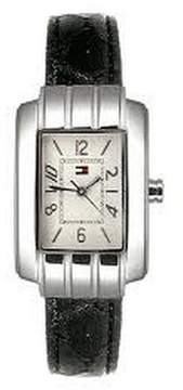 Tommy Hilfiger Women Black Patent Leather Watch 1780384