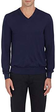 Luciano Barbera Men's Wool-Blend V-Neck Sweater