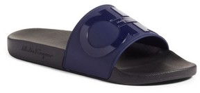 Salvatore Ferragamo Men's Groove 2 Slide Sandal