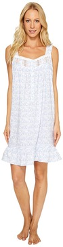 Eileen West 100% Cotton Lawn Short Nightgown Women's Pajama