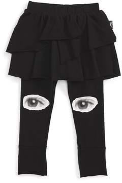 Nununu Infant Girl's Skirted Eye Leggings