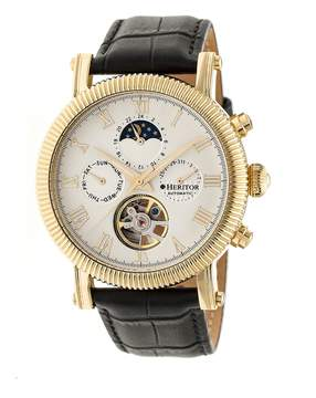 Heritor Winston Automatic White Dial Men's Watch