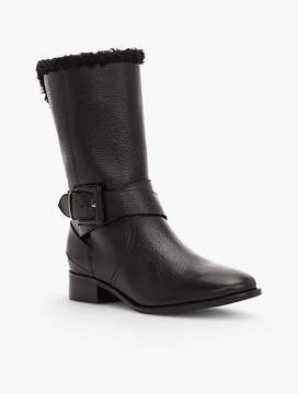 Talbots Tish Pebbled Leather Wrap Buckle Boots