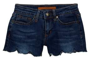 Joe's Jeans Mid Rise Scallop Hem Shorts (Big Girls)