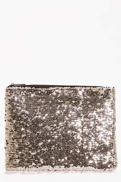 boohoo All Over Sequin Clutch Bag