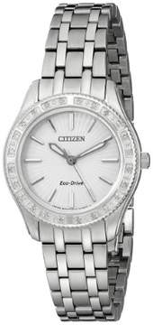 Citizen Dress EM0240-56A Silver Analog Eco-Drive Women's Watch