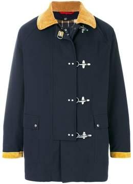 Fay front strap coat