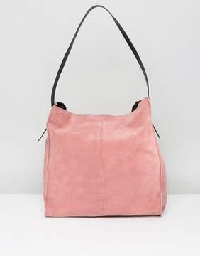 Asos Suede Contrast Shoulder Bag