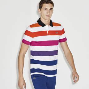 Lacoste Men's Sport Colored Striped Jersey Tennis Polo
