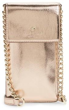 Kate Spade Metallic Leather Smartphone Crossbody Bag - Pink - PINK - STYLE