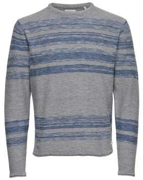 ONLY & SONS Stripe Knitted Cotton Pullover