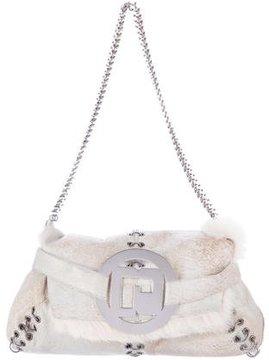 Paco Rabanne Fur & Suede Shoulder Bag