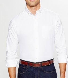 Daniel Cremieux Solid Oxford Long-Sleeve Woven Shirt