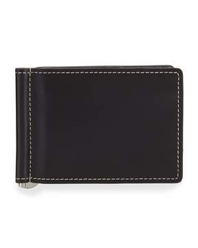 Neiman Marcus Boxed Bifold Leather Wallet, Black Harness