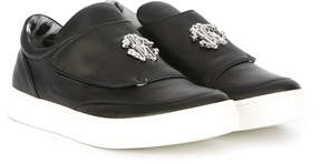 Roberto Cavalli strap slip-on sneakers