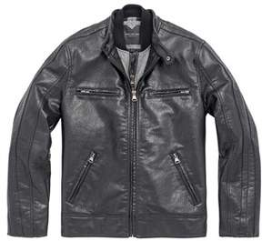 Andrew Marc Mens Anson Racer Jacket In Black.