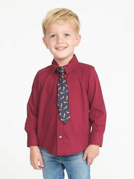 Old Navy Dress Shirt & Tie Set for Toddler Boys