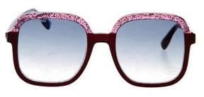 Jimmy Choo Oversize Square Sunglasses