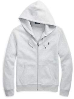 Ralph Lauren Double-Knit Full-Zip Hoodie Spring Heather S