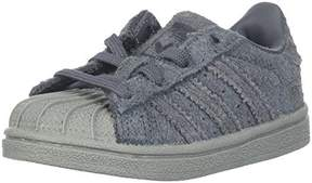 adidas Boys' Superstar I Sneaker, Grey Five/Utility Black/Metallic Gold, 10 Medium US Toddler