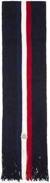Moncler Tricolor Striped Scarf
