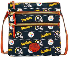 Dooney & Bourke Pittsburgh Steelers Nylon Triple Zip Crossbody - BLACK - STYLE