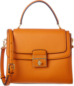 Dolce & Gabbana Greta Medium Leather Satchel - ORANGE - STYLE