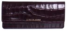 Michael Kors Money Pieces Crocodile-embossed Leather - Flat Wallet - Damson - 32F7GF6F2E-599 - GRAY - STYLE