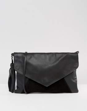 ASOS Leather Envelope Cross Body Bag With Tassel