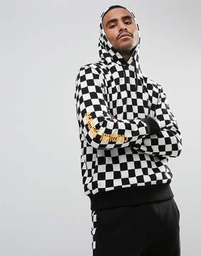 Criminal Damage Hoodie In Checkerboard