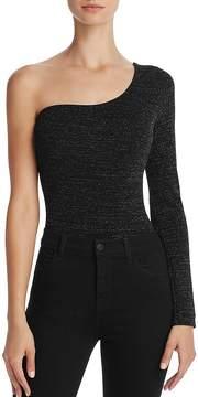 Astr Alina Metallic One-Shoulder Bodysuit