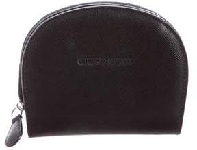 Giorgio Armani Leather Compact Wallet