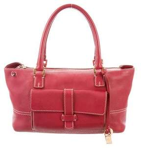 Loro Piana Grained Leather Satchel