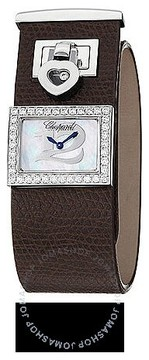 Chopard Happy Diamonds Mother Of Pearl Dial Brown Leather Ladies Watch