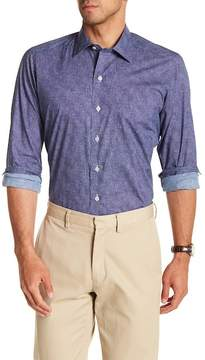David Donahue Patterned Casual Fit Shirt