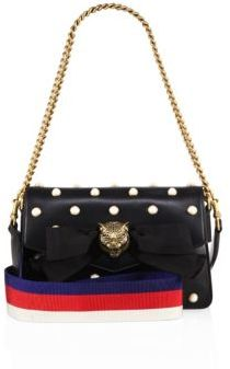 Gucci Broadway Studded Leather Clutch - NERO - STYLE