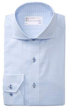 Lorenzo Uomo Windowpane Trim Fit Dress Shirt