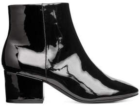 H&M Zipped ankle boots - Black