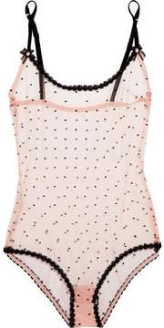 Agent Provocateur Poppie Point D'esprit Tulle Bodysuit - Pastel pink