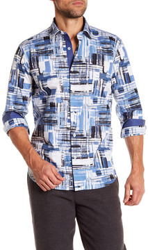 Bugatchi Brush Stroke Shaped Fit Shirt